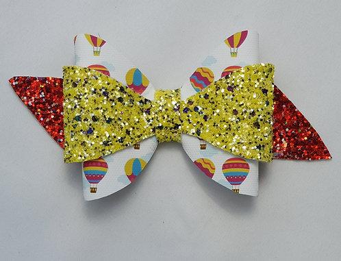 Hot Air Balloon Glitter Double Bow