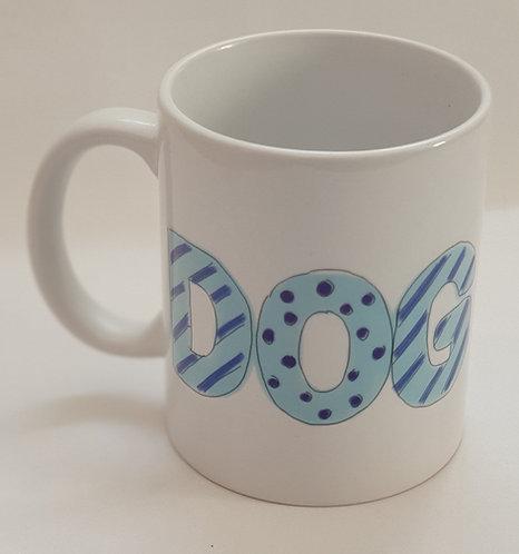 Dog Dad Pale Blue Print Mug
