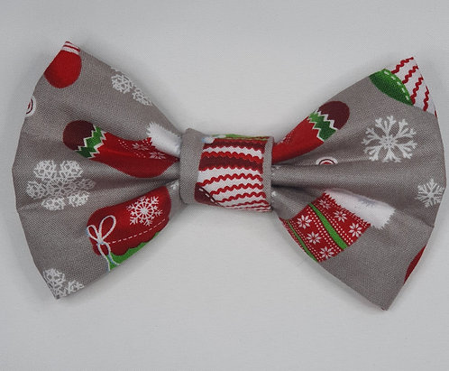 Xmas Stocking Dog Bow Tie