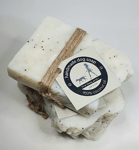 The Dog and i-100g Coconut Oil Soap with Lavander Oil and Poppy Seeds