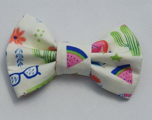 Cactus Cream Dog Bow Tie