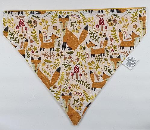 Foxy Fox Over Collar Dog Bandana