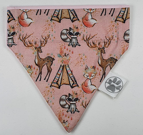 Deer Over Collar Dog Bandana