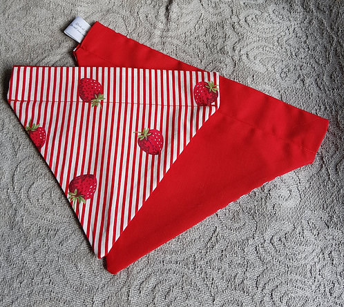 SAMPLESMALL STRAWBERY BANDANA RED