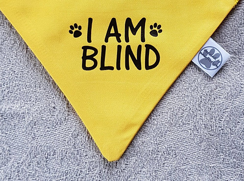 I AM BLIND/I AM DEAF POPPER BANDANA