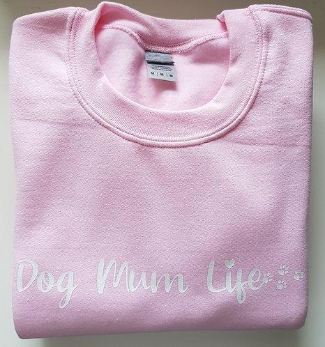 Personalised Dog Mum Life (Paws) SWEATSHIRT PINK