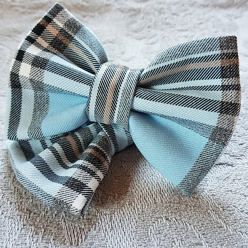 Tartan Dog Bow Tie PALE BLUE