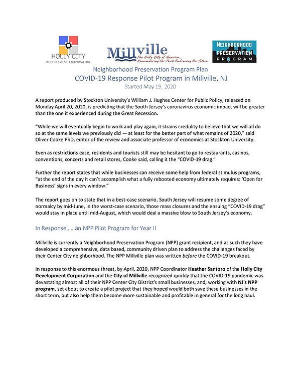 NPP Success Story - Millville COVID-19 S