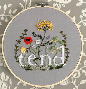 Tend embroidery by Kate Hargreaves