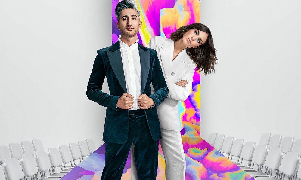 """Il semblerait que Netflix veuille tisser des liens plus forts avec ses binge-watchers à l'âme de couturier. Le 29 janvier prochain, l'influenceuse et le styliste britanniques lancent """"Next in Fashion"""", le premier concours de la plate-forme de vidéos en ligne consacré à la mode. Une émission soutenue par Net-à-porter, et qui promet jusqu'à 250 000 dollars au gagnant. Topwalk Magazine 2020. Melissa N'Dila."""