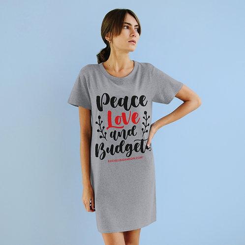 Peace, Love & Budgets Organic T-Shirt Dress