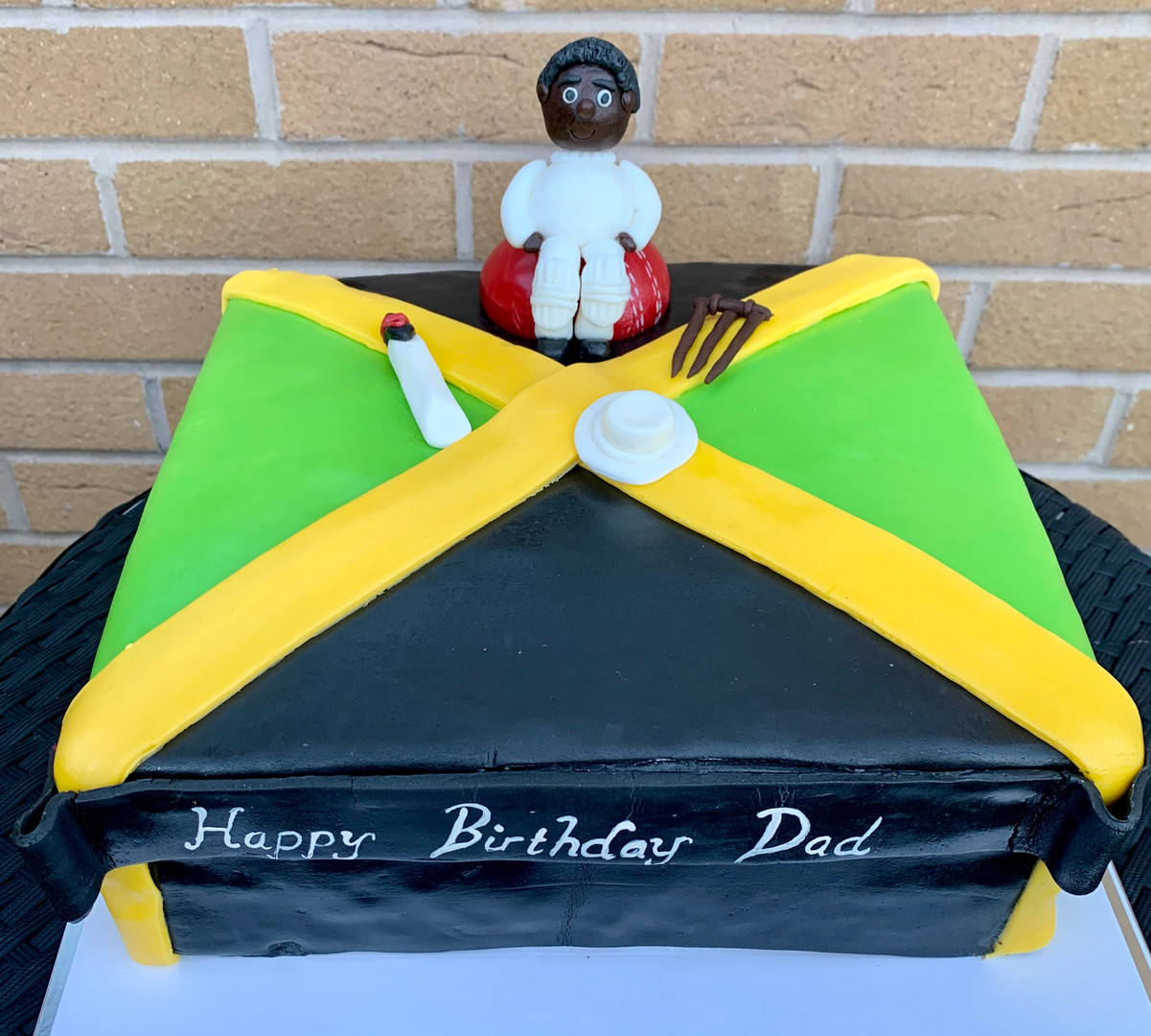 29.Jamaica Flag Cricket Cake