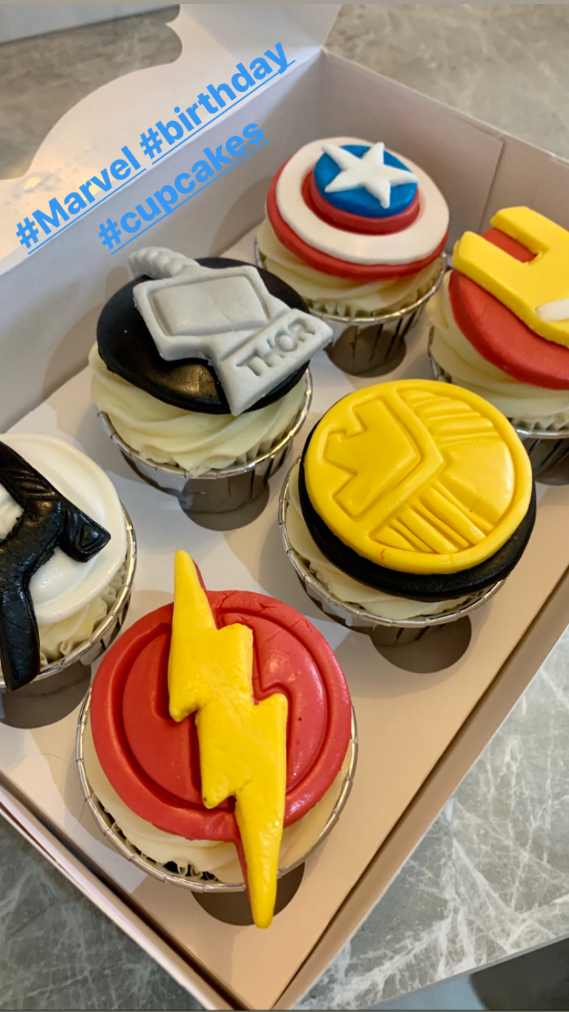 20.Avenger Themed Cupcakes