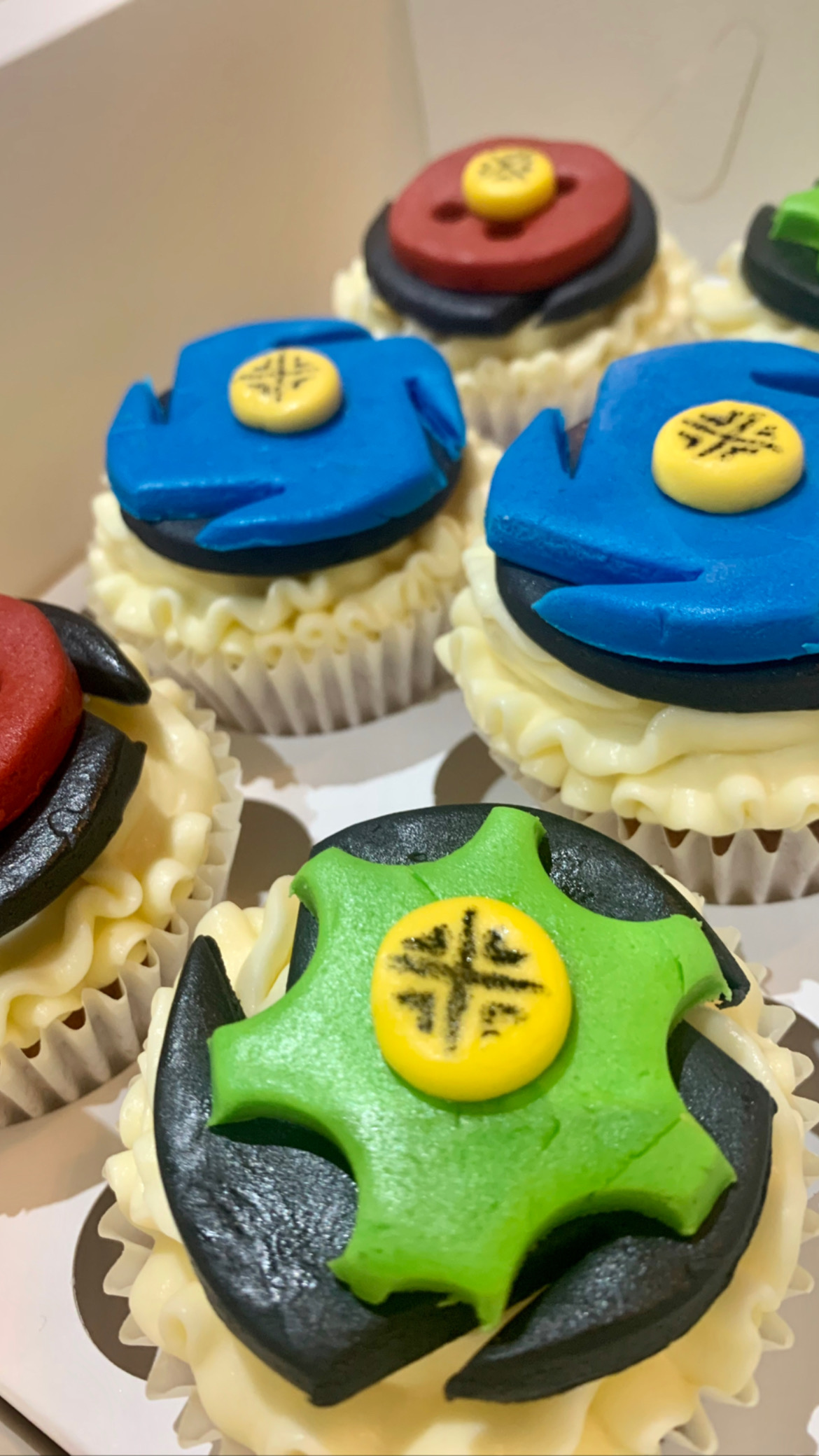 22.BeyBlade Themed Cupcakes
