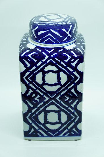 Porcelain Vase Container - Rhombus