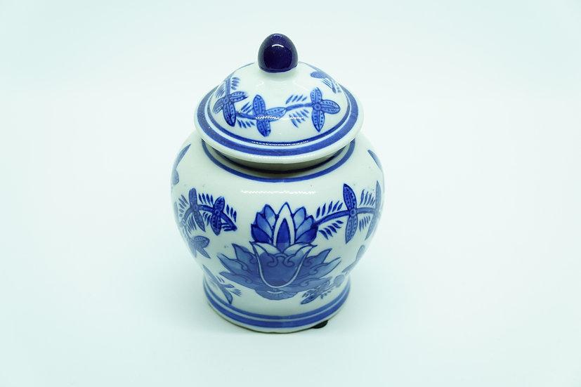 Porcelain Vase Container - Lotus