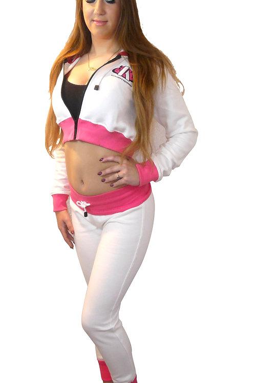 Vrouwen Joggingspak TR-Lady White-Pink