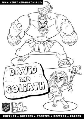 David and Goliath Colouring