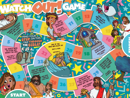 Watch Out! Bible game + pieces