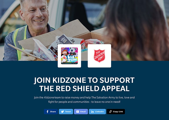 Kidzone Red Shield Appeal