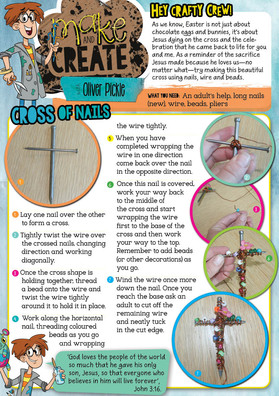 DIY Easter Cross of Nails