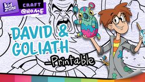 David & Goliath Colouring