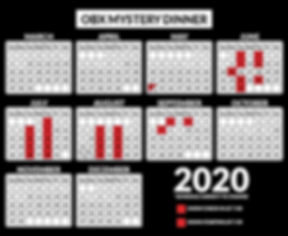 2020 Calendar Outer Banks Mystery Dinne
