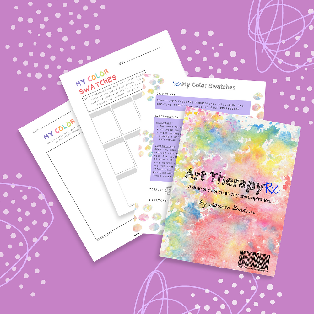 Subscribe for the colorful art therapy freebies.