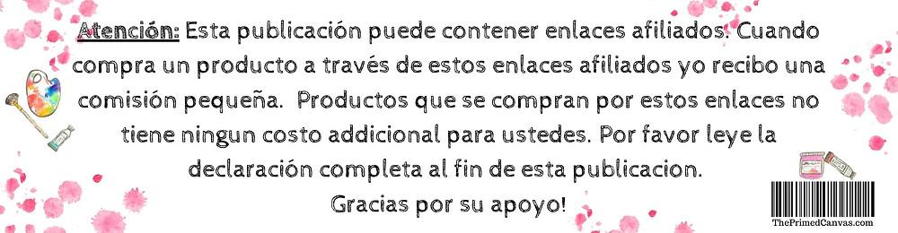 The primed canvas declaration/aviso de afiliados/ganacas.