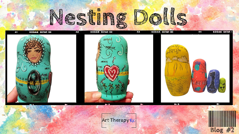 An art therapy directives utilizing nesting dolls.