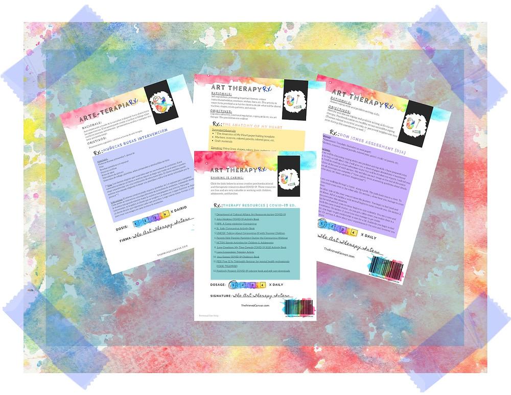 suscribase para recursos de arteterapia coloridos de me blog!