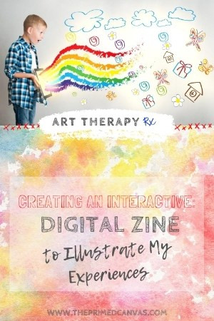 Art Therapy Rx |This creative therapy intervention can be used in teletherapy sessions with children to aide in expressing thoughts and feelings! Zines can be created on digital platforms and then shared during teletherapy sessions to process various therapy topics.