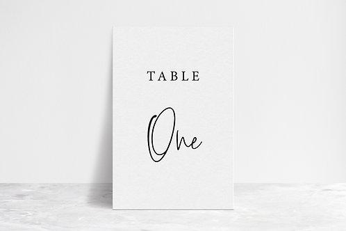 Script Table Numbers