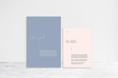 Paul 2 Card Invitation Suite