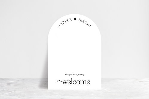 Full Arch Welcome Sign