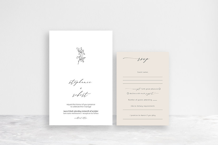 Stephanie 2 Card Invitation Suite