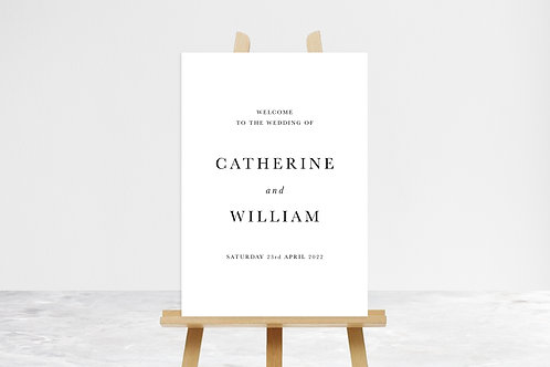 Catherine Welcome Sign