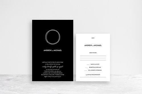 Michael 2 Card Invitation Suite