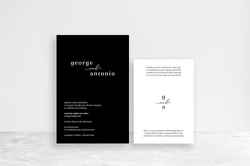 George 2 Card Invitation Suite