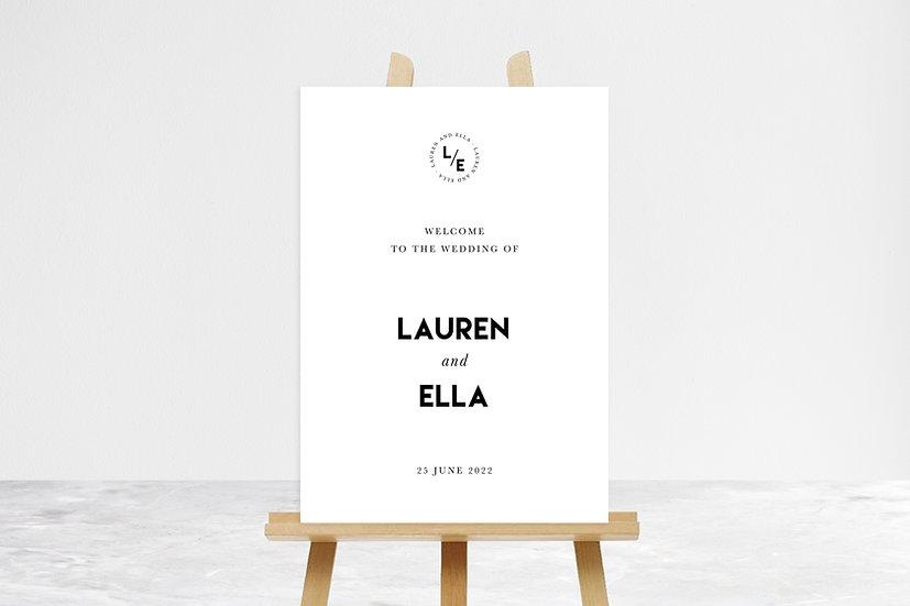 Lauren Welcome Sign