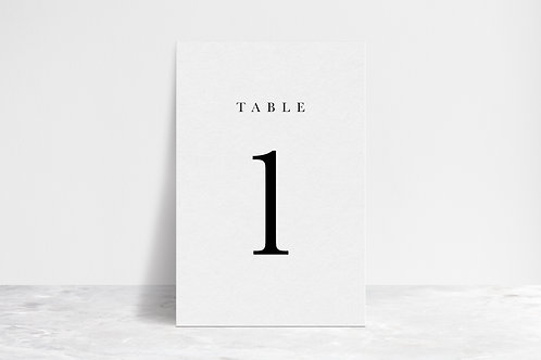Classic Table Numbers