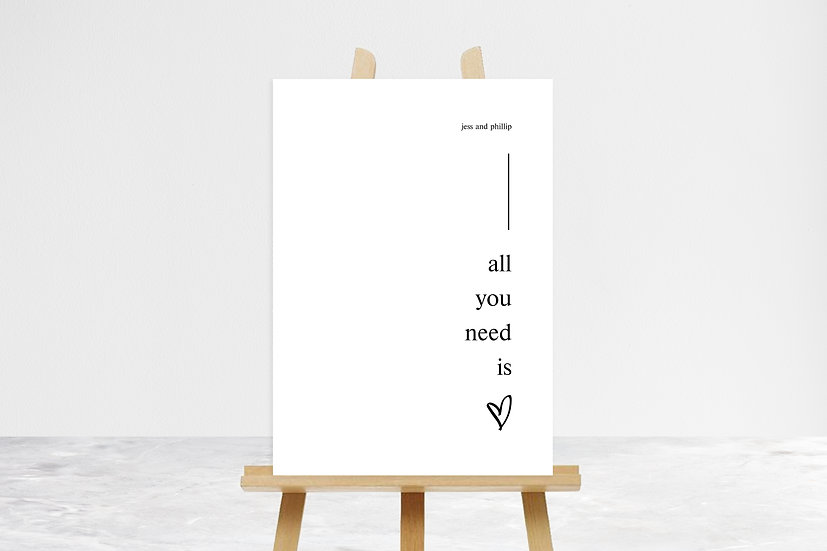 All You Need Is Love Quote Sign