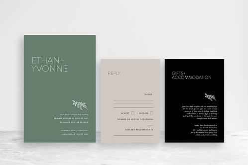 Ethan 3 Card Invitation Suite