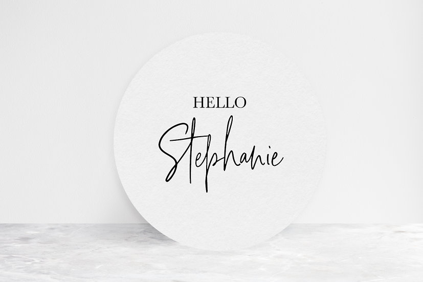 Round Place Cards