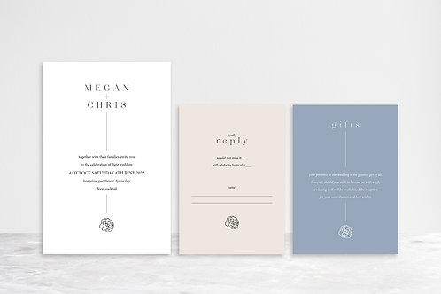 Chris 3 Card Invitation Suite