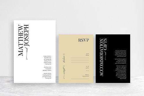 Matthew 3 Card Invitation Suite