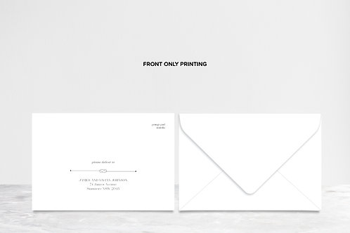 Envelope with Front Only Printing