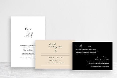 Laura 3 Card Invitation Suite