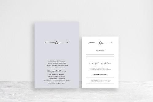 Samantha 2 Card Invitation Suite