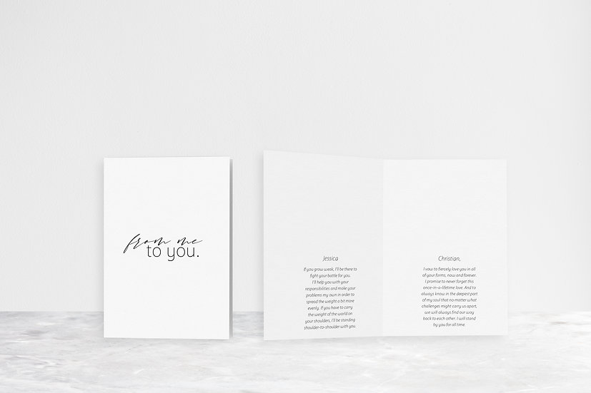From Me To You Vows Folded Card